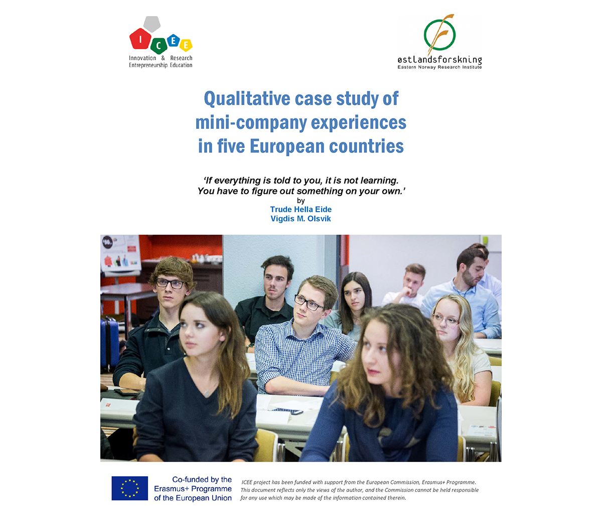 Qualitative case study of mini-company experiences in five European countries